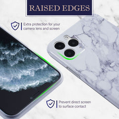 Marble IMD TPU Case Compatible With iPhone 11 Pro Max, White