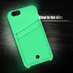 Leather Textured Glow In The Dark Back Cover Compatible With iPhone 6 / 6S, Mint Green
