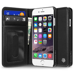 Cobble Pro Genuine Leather Wallet Folio Case with Card slot For iPhone 6 6s - Black