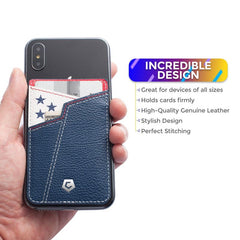 Cobble Pro Stick-On Genuine Leather Card Holder Adhesive Stick on Wallet for iPhone 11 Pro Max XS X 8 SE 2020 Galaxy S10 S9 S8 Philadelphia Basketball