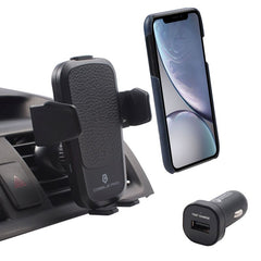 Cobble Pro 10W Wireless Car Charger Mount Air Vent Cell Phone Holder Charging Pad, Black