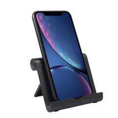 Insten Adjustable Phone Stand For iPhone 12 Pro Max Mini 11 All Cell Phones iPad Tablet Universal Desktop Holder, Aluminum Alloy, Black
