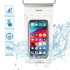 "Insten Universal IPX8 Waterproof Phone Dry Bag Pouch Case For iPhone & All Smartphones Up to 6.8"" x 3.5"" Silver"
