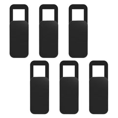 6-pack Anti-hack Sliding Camera Cover for Phones, Tablets, Laptop Webcams, Black Rectangle