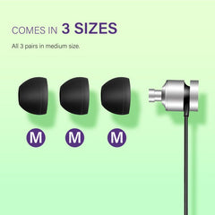 6 pcs Silicone Ear tips for 4.5 - 5.5mm Earphones, M