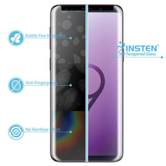 Clear Tempered Glass Screen Protector Compatible with Samsung Galaxy S9