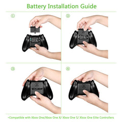 Insten Rechargeable Battery Pack with USB Charging Cable Play & Charge Power Kit for Microsoft Xbox One / One Elite / One S / One X - Black