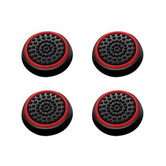 4-piece Set Controller Analog Thumbstick Cap, Black/Red