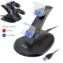 Dual USB Stand Charger compatible with Sony PlayStation 4 (PS4) Controller, Black
