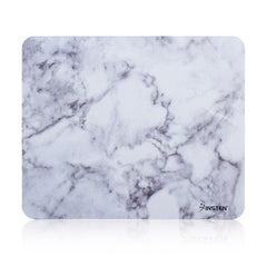 Insten Marble Mouse Pad for Laptop with Nonskid Rubber Base Waterproof Coating Mouse Mat Computer Desk PC Gaming (8.6 inch x 7 inch) Marble White