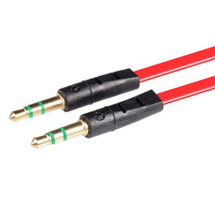 INSTEN 3.3FT 3.5mm Stereo Extension M/M Cable, Red