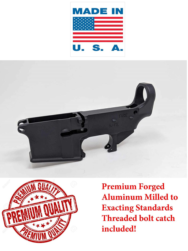 Premium 80% Forged Lower Receiver - Black Anodized