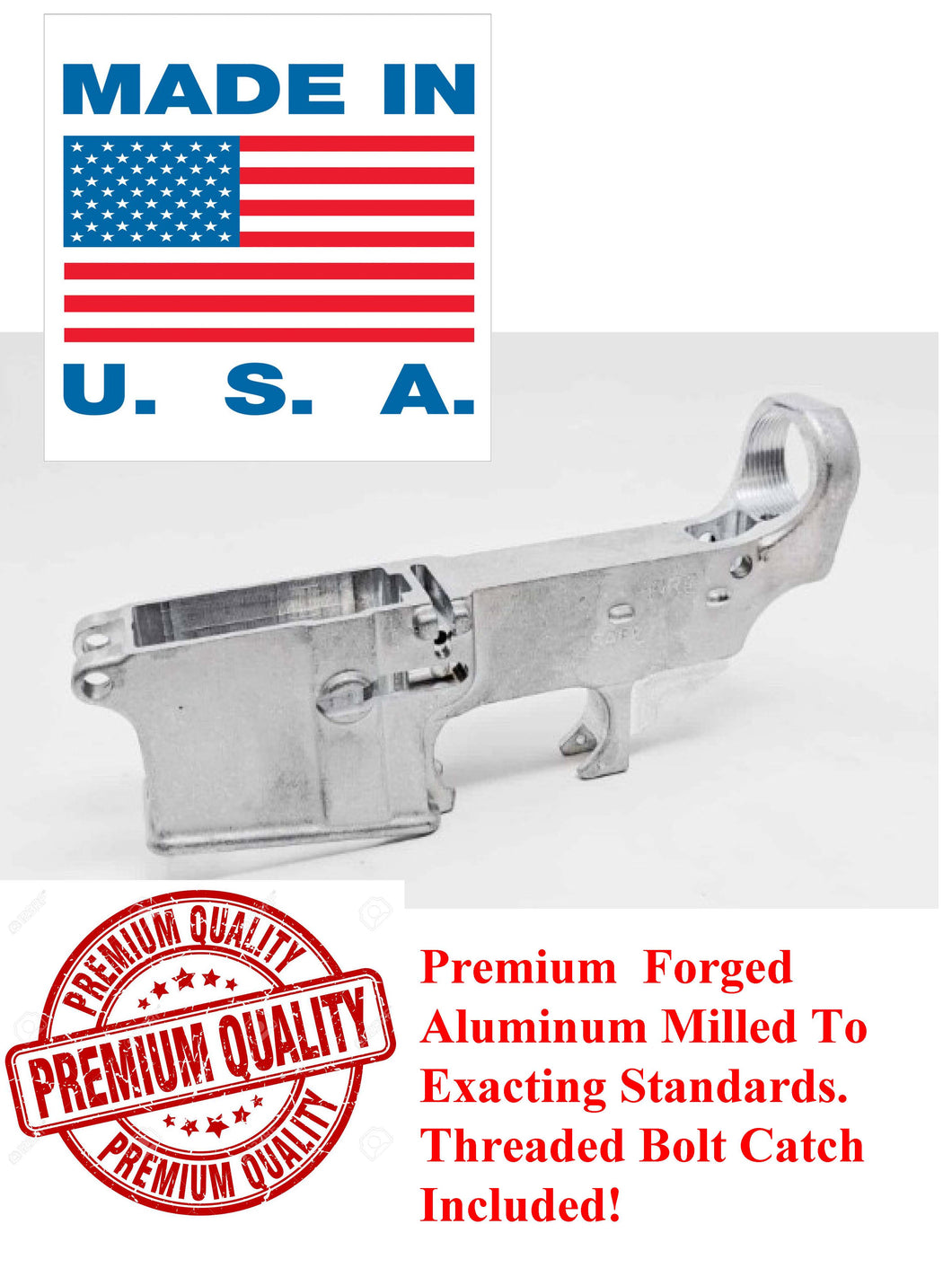 Premium 80% Forged Raw Lower Receiver
