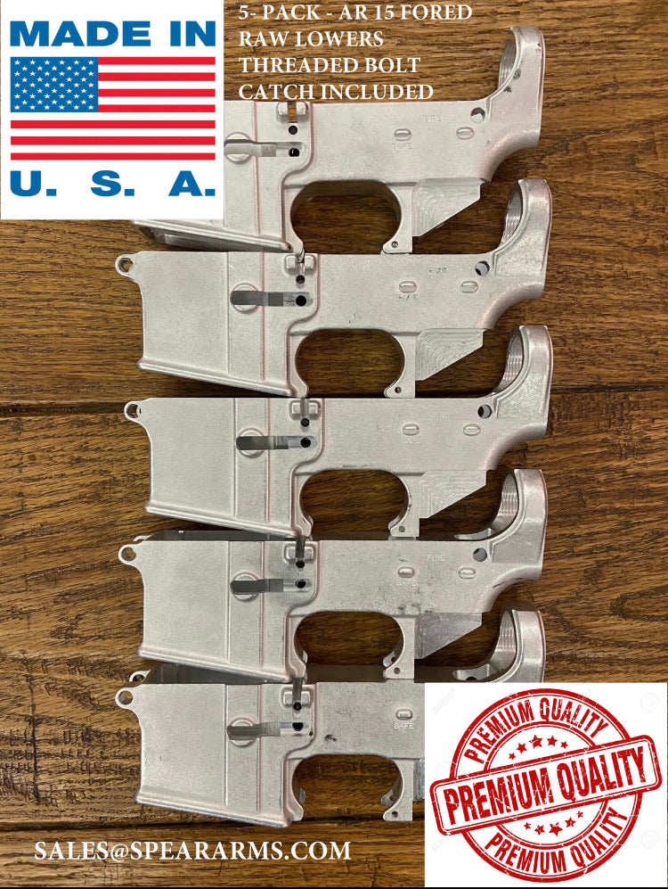 !(5 Pack)! Premium 80% Forged Raw Lower Receiver