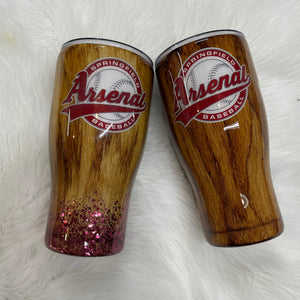 Arsenal Baseball Tumbler