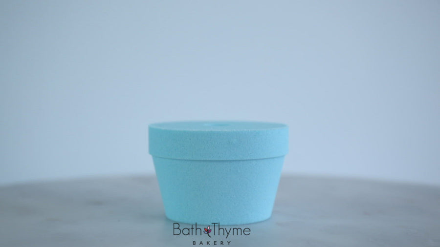 Blueberry Lemon Cupcake Bath Bomb