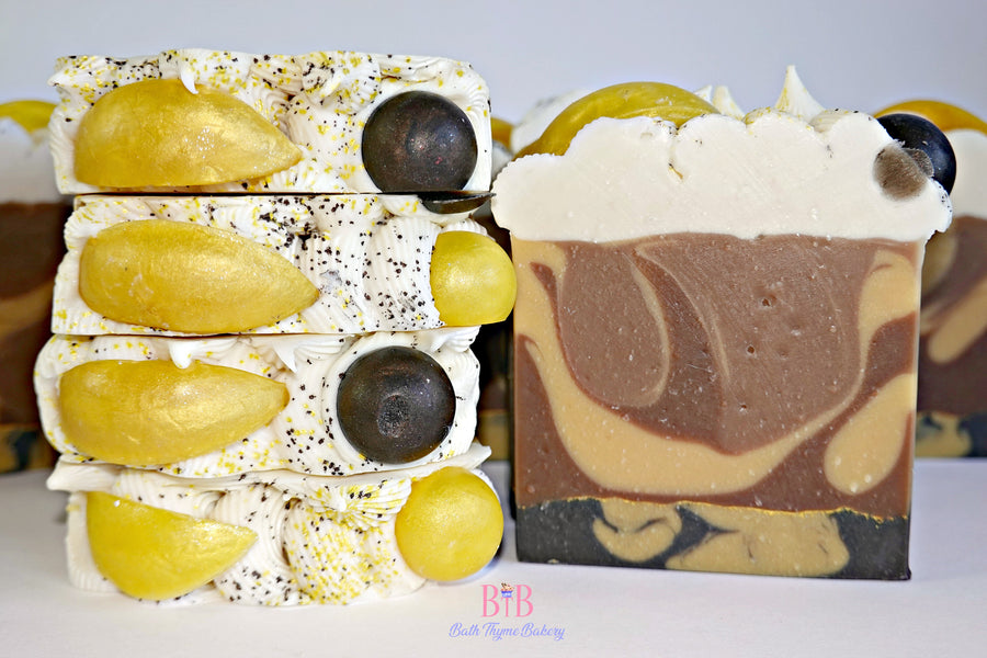 Lemon Chocolate Pie Handcrafted Soap