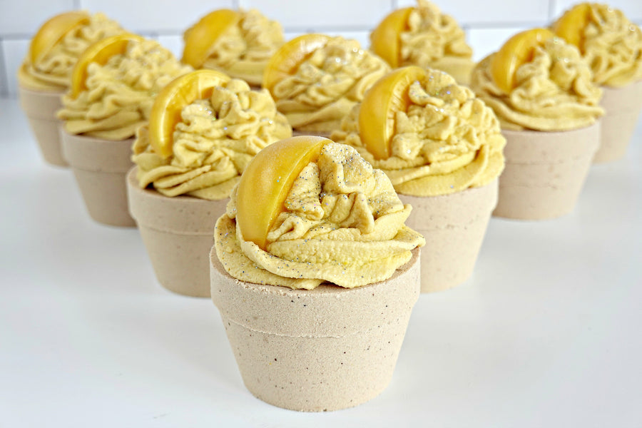 Lemon Pie Cupcake Bath Bomb