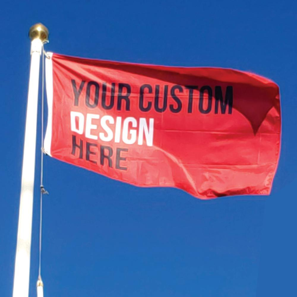Custom Printed Knitted Polyester Flags