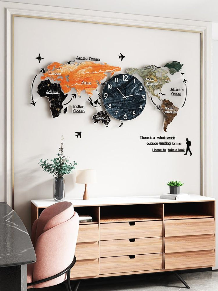 Country and Continental Design Wall Hanging Clock