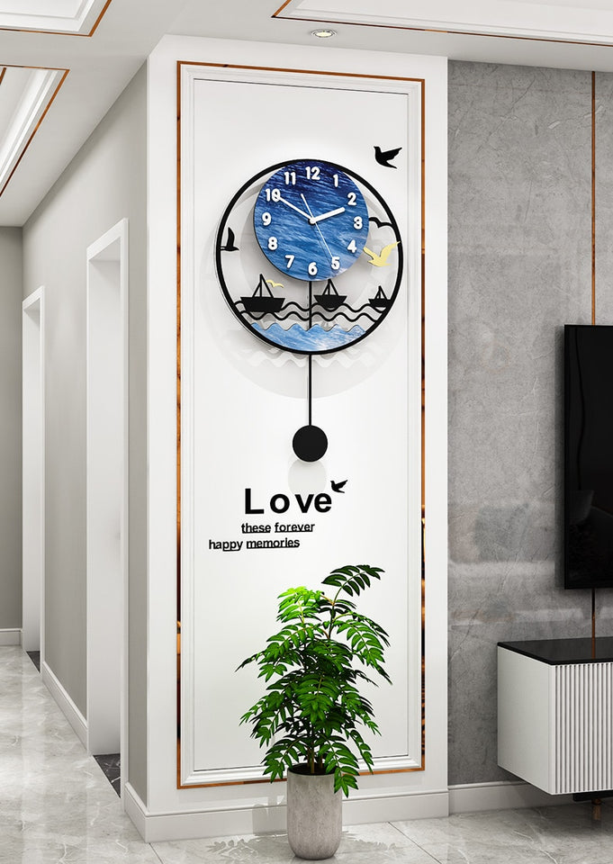 Clock Sovereign Seascape Tranquillity Wall Clock
