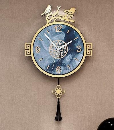 Traditional Oriental Style Birds Clock - Clock Sovereign