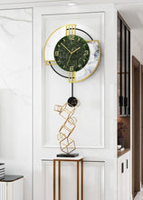 Load image into Gallery viewer, Designer Semi-Bordered Wall Clock on Display