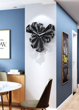 Load image into Gallery viewer, Black Pillars on the Rise Wall Art Clock