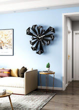 Load image into Gallery viewer, Pillars on the Rise Wall Art Clock on Blue Wall