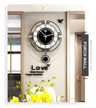 Load image into Gallery viewer, Symmetry Stylised Pendulum Clock Porch Wall