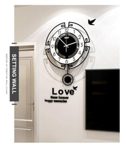 Load image into Gallery viewer, Symmetry Stylised Pendulum Clock Wall Setting