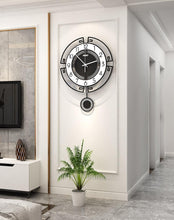 Load image into Gallery viewer, Symmetry Stylised Pendulum Clock Hall Way