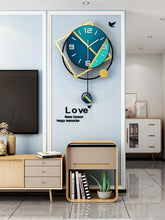 Load image into Gallery viewer, Geo-Shadows Wall Hanging Clock Living Room