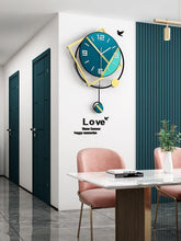 Load image into Gallery viewer, Geo-Shadows Wall Hanging Clock Hall Way