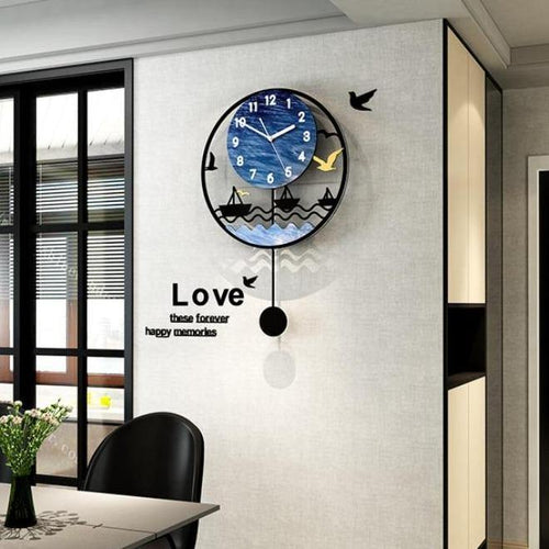 Seascape Wall Pendulum Clock
