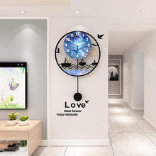 Load image into Gallery viewer, Seascape Wall Pendulum Clock Living Room