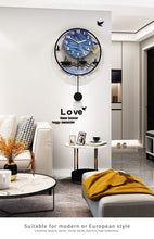 Load image into Gallery viewer, Seascape Wall Pendulum Clock in Lounge Room