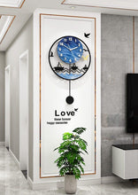 Load image into Gallery viewer, Seascape Wall Pendulum Clock Hallway