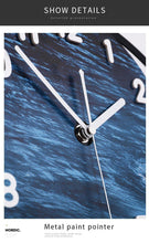 Load image into Gallery viewer, Angled Close up of Seascape Wall Pendulum Clock
