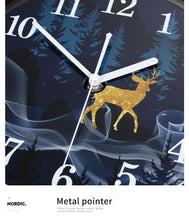 Load image into Gallery viewer, Reindeer Clock Close Up