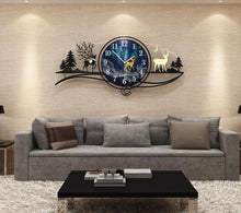 Load image into Gallery viewer, Reindeer by Evening Large Wall Clock in Living Room