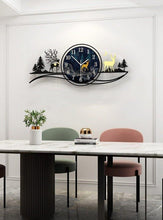 Load image into Gallery viewer, Reindeer by Evening Large Wall Clock in Dining Room