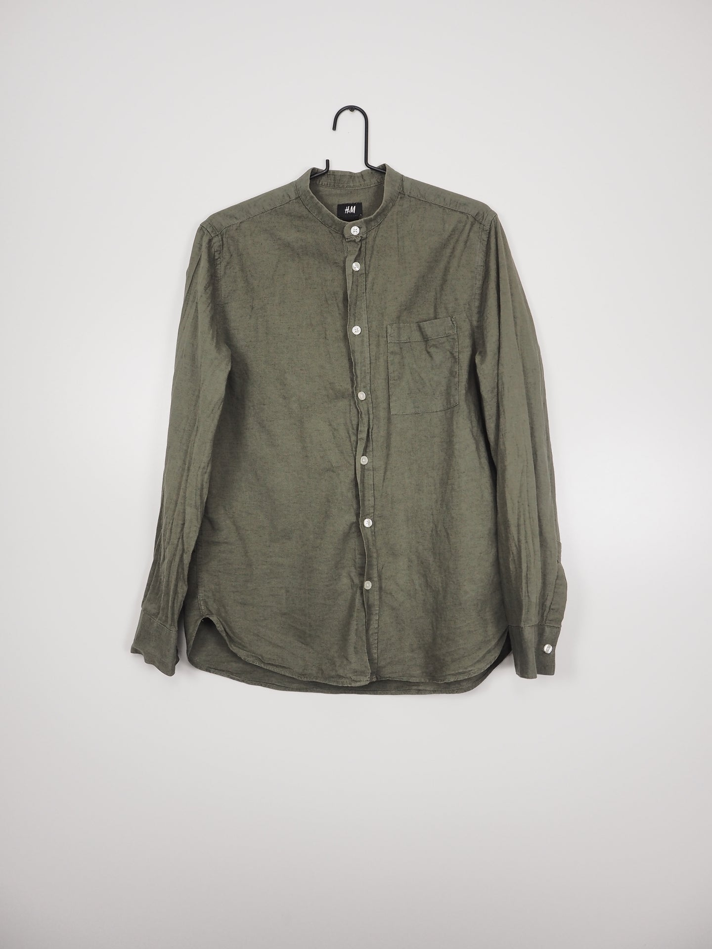 Army coloured overhemd (H&M)