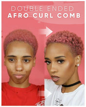 Load image into Gallery viewer, Double Ended Afro Curl Comb