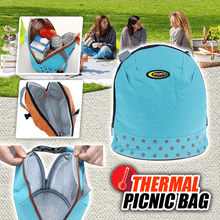 Load image into Gallery viewer, Thermal Picnic Bag summertwinkle blue