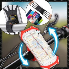 Load image into Gallery viewer, Silicone Bicycle Phone Holder