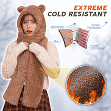 Load image into Gallery viewer, Cute Bear Ears Warm Hat Scarf