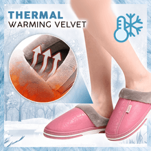 Load image into Gallery viewer, Waterproof PU Warm Slipper
