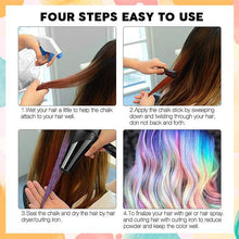 Load image into Gallery viewer, Temporary Hair Dye Chalk Comb