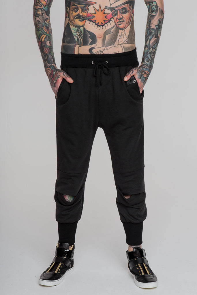 Image 1 of No Attack Pleated Pants Black